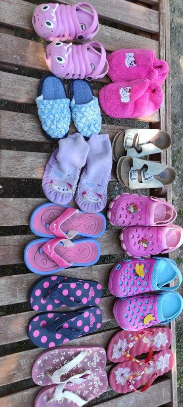 Aro 24 3 mt - Crvenka: Prodajem papuce za devojcice( plave sobne 24,roze puzici 24/25,patofne