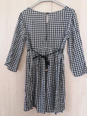 Φορεμα ths medium, αναλαφρο καρο ασπρομαυρο με ζωνακι. σε Αθήνα - εικόνες 3