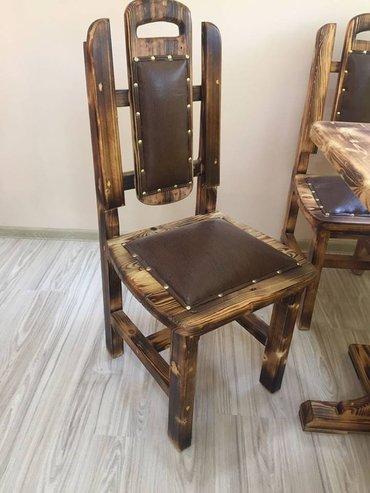 Bakı şəhərində Qedimi stilde stullar.. Villa bag evi restoran cay evleri pub dukanlar