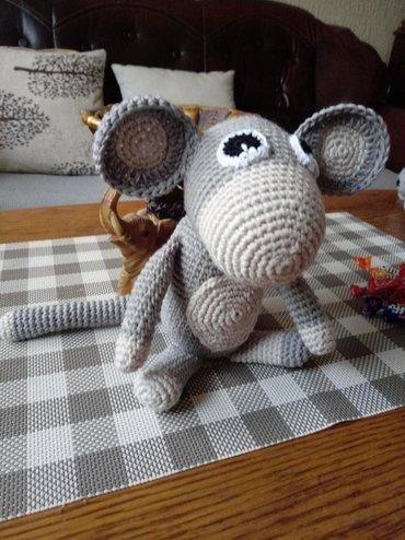 Ostalo | Vrnjacka Banja: Majmunce Cira heklana igracka od pamucnog konca visine oko 16 cm