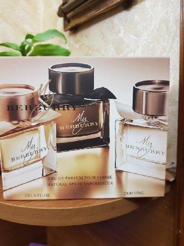 i̇talya istehsalı olan qadın şubaları - Azərbaycan: Berburry parfumu. Ichinde 2 dene . Heresi 55 ml. Istehsal FRANCIYA