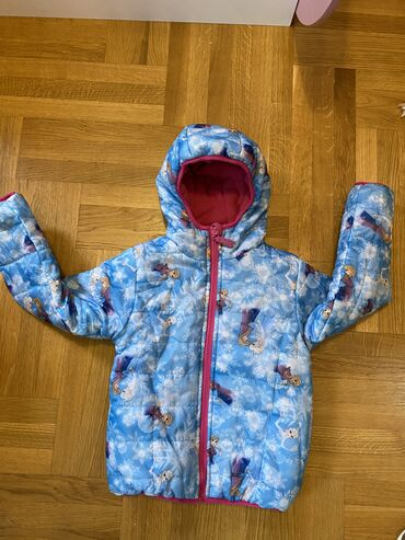 Nova Frozen jakna 4/5 godina sa dva lica sa jedne strane suskava plav