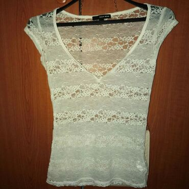 Personalni proizvodi   Zrenjanin: Nova, T.W. cipkana bela majica 500 din