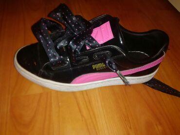 Ženska patike i atletske cipele | Jagodina: Puma basket,vel 38,ocuvane,malo nosene. crno/roze Cena 1500