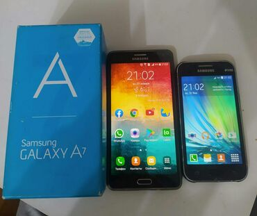 Samsung a7 2015 - Азербайджан: Б/у Samsung Galaxy A7 16 ГБ Черный