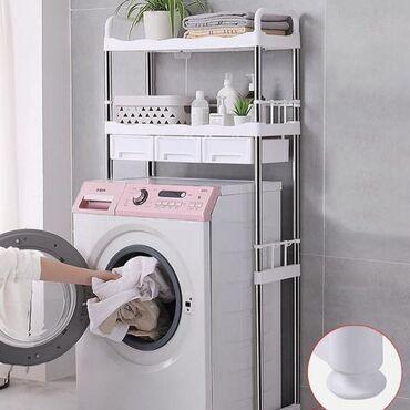 Новинка Стеллаж над стиральной машинкой с выдвижными ящиками В розовом