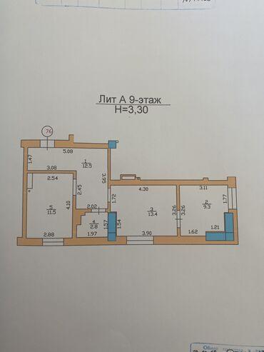 Продажа квартир - 2 комнаты - Бишкек: Элитка, 2 комнаты, 50 кв. м Теплый пол, Бронированные двери, Лифт