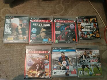 ps-3-games в Кыргызстан: Игры на PS3 -pes2012 -fifa 13 -uncharted3 -GTA5 -Grand Turismo5 -одни