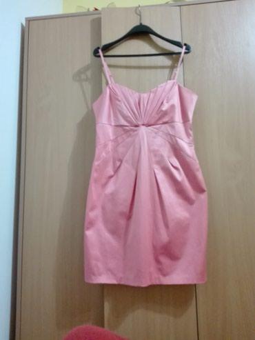 """Crna-satenska-haljina - Srbija: ,,Gina tricot""""satenska haljina,nezno roze bojevelicina 40,obucena"""