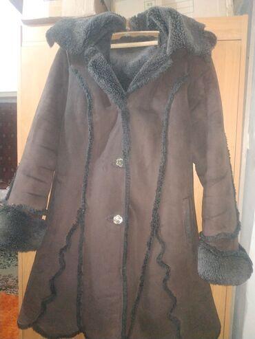 Продаю Дублёнку женскую Нубук 48-50 темно коричневого цвета в хорошем