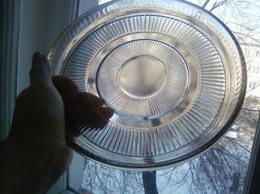 Блюдо советское стекло диаметр 23см, высота 3см в Бишкек