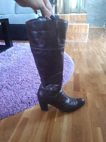 Braon kozne cizme, Bata, br.38, ocuvane,slabo nosene