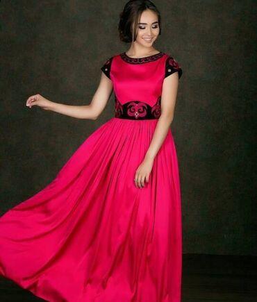 вечернее платье шелк в Кыргызстан: Платье на Кыз узатуу, национальное платье  Одевалось 1 раз  Шелковое п