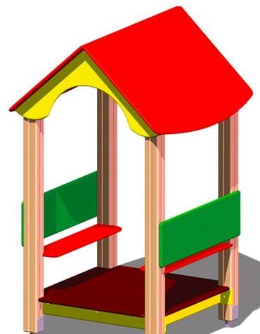 фанера 18 мм в Кыргызстан: Детский игровой домик Размер: 1200*1200*2000 мм