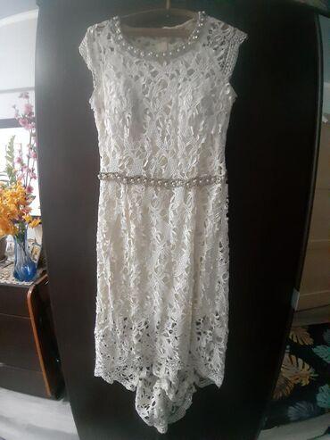 вечерние платья со шлейфом в Кыргызстан: Платье вечернее,можно на свадьбу.Кружевное со шлейфом,очень