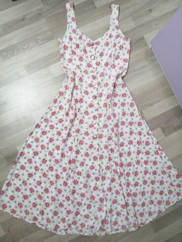 Midi cvetna haljina - vel. S!   Romantična midi haljina (do člankova)