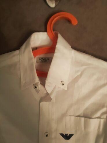 Классная рубашка Армани Жуниор на 4-5 лет качество супер 300 сом