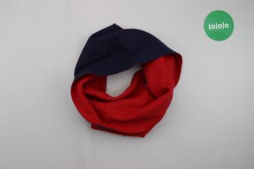 Двосторонній шарф з китицями червоного кольору   Довжина: 135 см Ширин