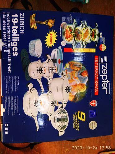 stolovyj nabor zepter na 12 person в Кыргызстан: Продаю новый набор посуды марки Zepter. Срочно ! Серьезным покупателям