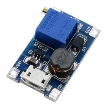 зарядное устройство 18650 в Азербайджан: MT3608 Dc Dc Step up.повышающий. Giriş 2v-24v. Çıxış 28 v qədər