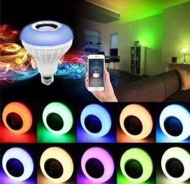 Nov - Srbija: Led RGB Bluetooth sijalica sa zvucnikomCena 1800 dinaraSvetli u ritmu