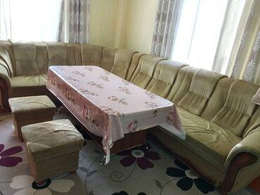 тумбочка для кухни в Кыргызстан: Угловой диван для гостиной или кухни с двумя тумбами + стол за всё