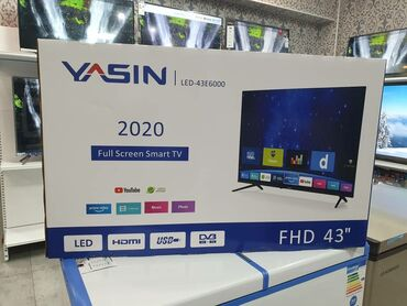 Телевизоры YASIN   Смарт тв 2020 год   Новый телевизор Ясин 43 дюм 110