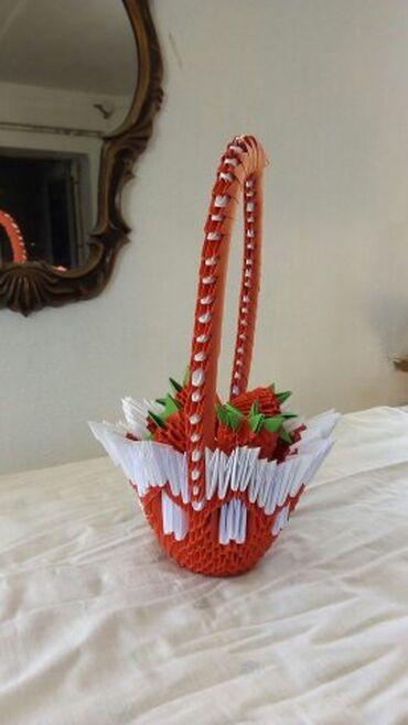Продается ваза с розами.(Модульное оригами ручной работы, кропотливый