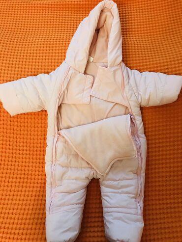 Комбенизон для новорождённых девочек (1-6 мес). Почти новое,чистое,нет