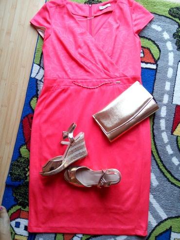 Predivna crvena haljina Elipsa konfekcija! Velicina 46 ! Vrhunski - Bajina Basta