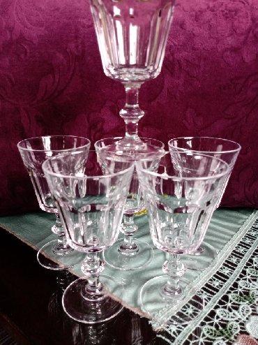 Čaše za piće - Srbija: Case nove za vino. 6 kom. Visina. 13,5cm. Precnik otvora