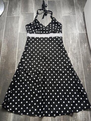 Letnja duga haljina za svaki dan, vezuje se oko vrata
