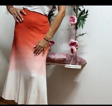 Suknja rebrasti pamuk sa elastinom Vel S M LExtra model i kvalitet