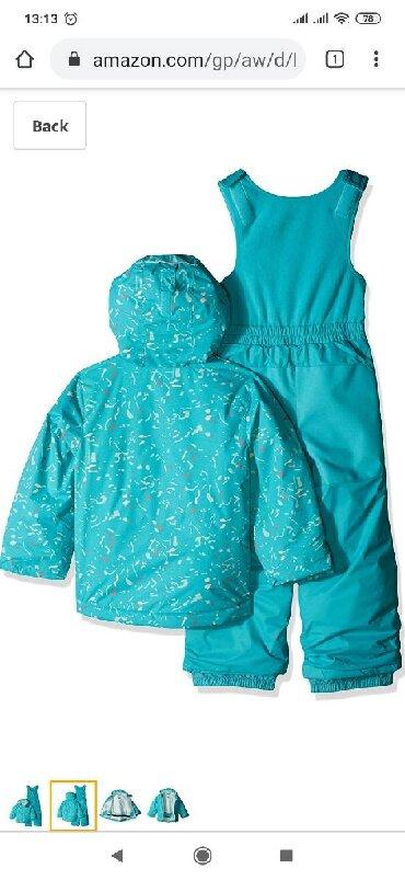 как заказать платье в Кыргызстан: Columbia - зимний комплект: комбинезон с курткой на возраст от 3 до 5
