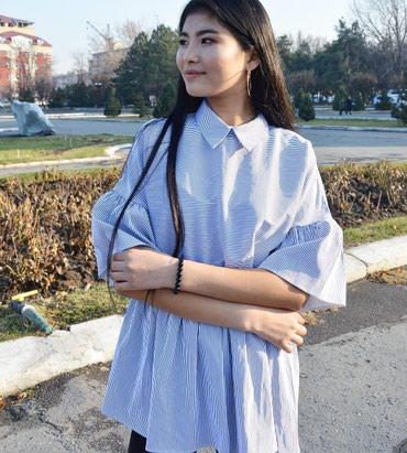 свободная рубашка в Кыргызстан: Блузка свободного кроя. Размеры 44,46