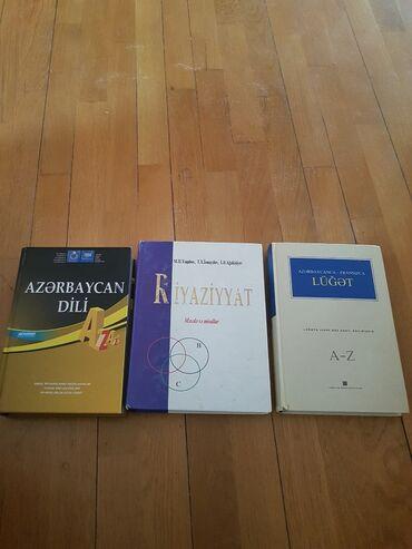 Azərbaycan dili,Riyaziyyat(qəbul üçün),fransız dili(lüğət).Hamısı təzə