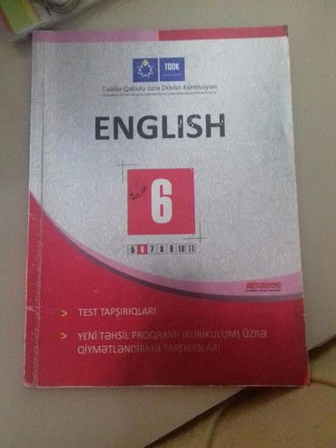 - Azərbaycan: İngilis dili 5(köhnə) 6(köhnə)7(təzə) ci sinif test kitabçası