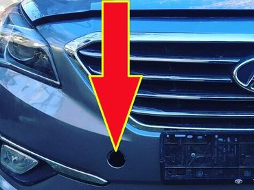 Буксировочная заглушка от Hyundai Sonata 2015. в Душанбе - фото 2