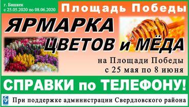Ярмарка цветов и мёда на Площади ПобедыС 25 мая по 8 июняАдрес: г
