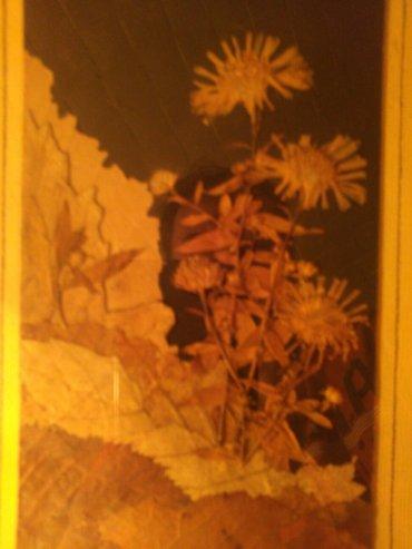 Slika od latica suvog cveca i lisca. Autorka ovog prelepog rada je - Pancevo