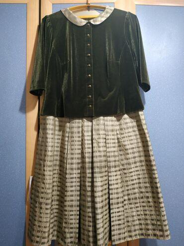 летнее платье 48 размера в Кыргызстан: Продаю вещи 1 фото - итальянское бархатное платье,(одевала 1 раз), 46