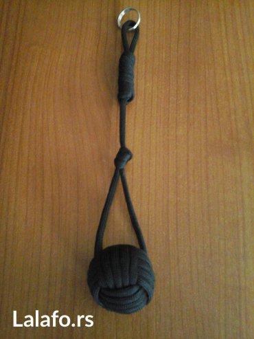 Paracord monkey privezak za prezivljavanje  crni precnik loptice - Bela Crkva