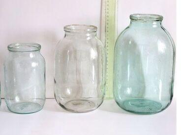 Стеклянную вазу - Кыргызстан: Продаю стеклянные банки 1л-7сом, 2л-13сом, 3л- 20 сом