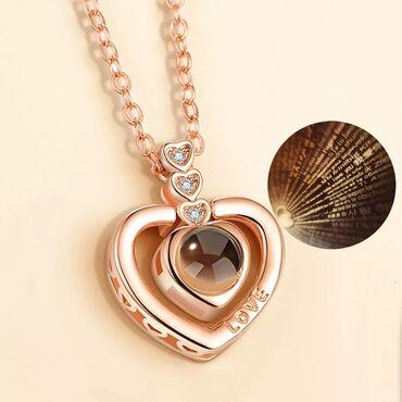 Ожерелье «Я тебя люблю», 100 языков, искусственное ожерелье, ожерелье