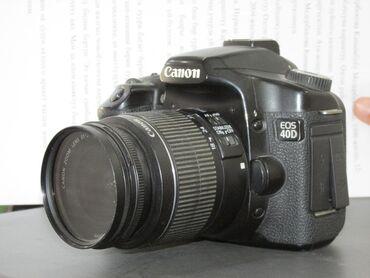 ретро фотоаппарат зенит в Кыргызстан: Canon EOS 40D Зарядник, флешкасы бар. Абалы жакшы. Объективи анча