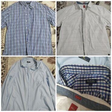 Рубашка летняя мужская - Кыргызстан: 3 мужские рубашки, размер 3XL,XXL, 41-42. Платье летнее, ни разу не