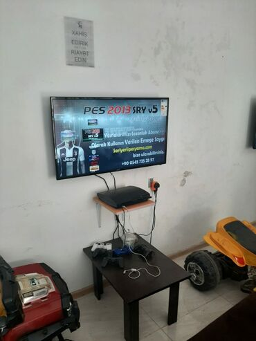 Playstation 3 klub acanlar ucun ideal furset.PS 3+Televizor+divan+