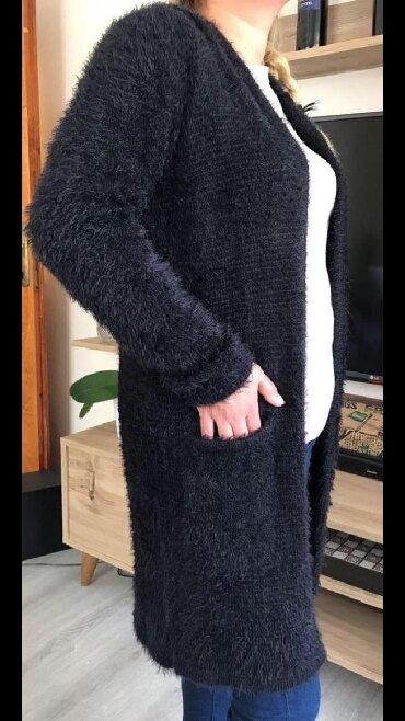 Кардиган турецкий очень теплый пушистый с капюшоном новый размер 40/L