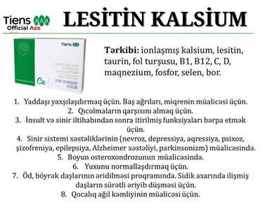 Vitaminlər və BAƏ - Azərbaycan: BEYİN KALSİUMU---Lesitinli kapsullar(Super Calcium With