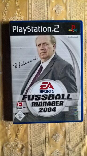 PS2 & PS1 (Sony PlayStation 2 & 1) | Srbija: FUSSBALL MANAGER 2004=playStation 2=ispravne su testirane juce stigle